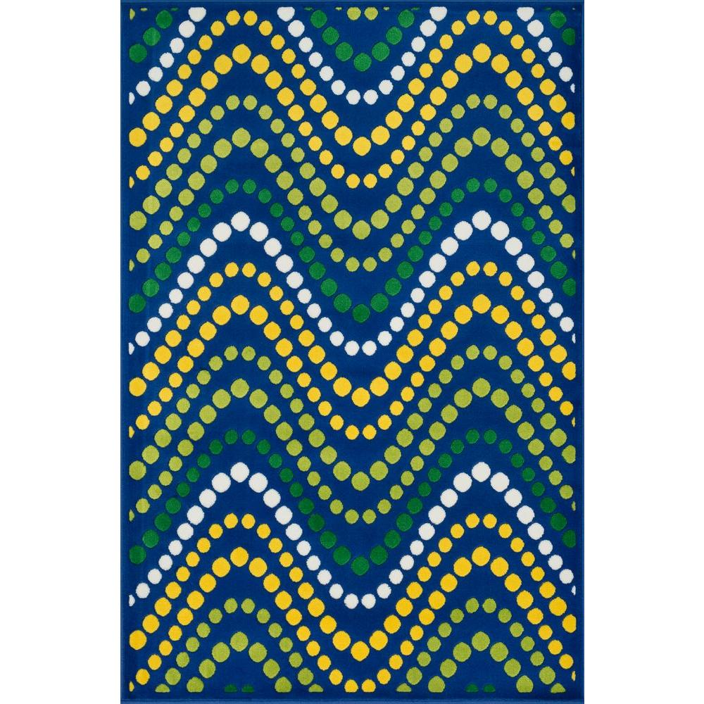 Loloi Rugs Gracie Lifestyle Collection Blue/Multi 4 ft. 4 in. x 6 ft. 7 in. Area Rug