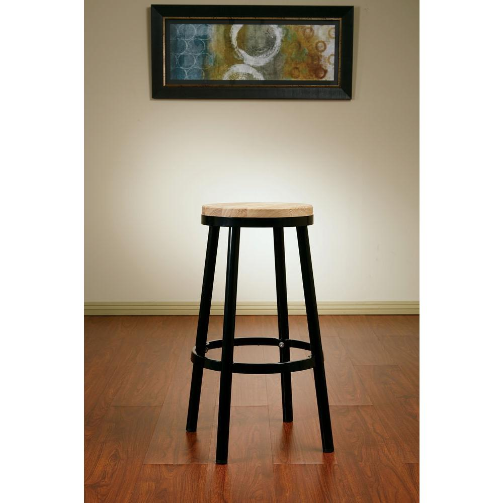 Bristow 30.25 in. Black Bar Stool