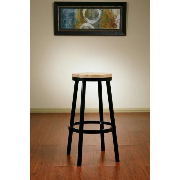 OSP Home Furnishings Bristow 30.25 in. Black Bar Stool BRW3230-3