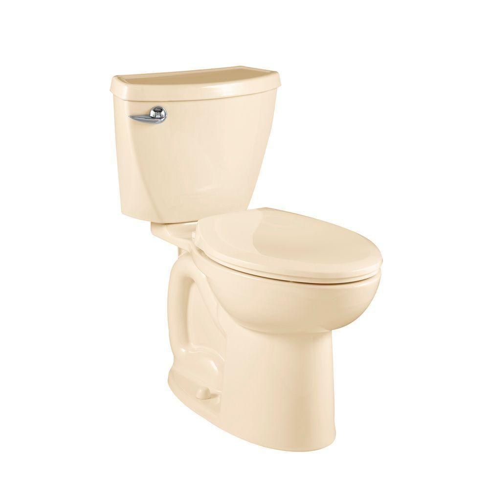 American Standard Cadet 3 Powerwash Compact Chair Height 2-piece 1.6 GPF Elongated Toilet in Bone