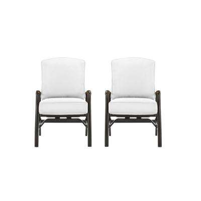 Ridge Falls Dark Brown Aluminum Outdoor Patio Motion Lounge Chair with Bare Cushions (2-Pack)