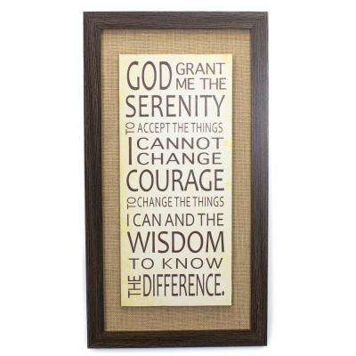 "13 In. W x 24 In. H ""God Grant Me The Serenity"" by Lejla Framed Printed Wall Art"