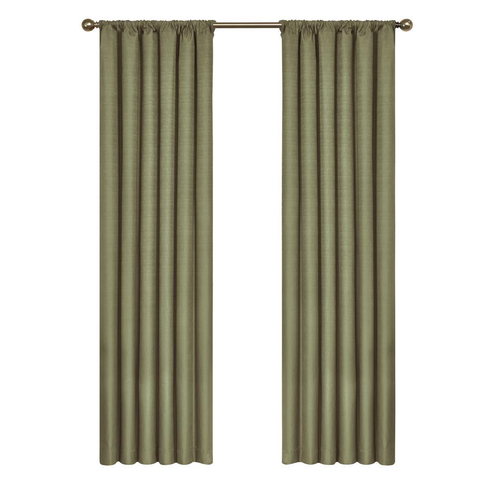 Eclipse Kendall Blackout Window Curtain Panel in Artichoke - 42 in. W x 95 in. L