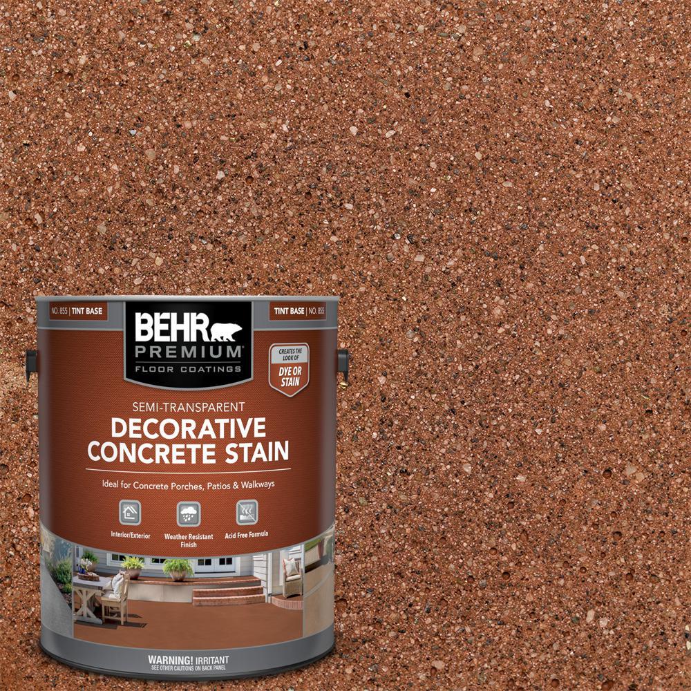 1 gal. #DCS-803 Cajun Rose Semi-Transparent Flat Interior/Exterior Decorative Concrete Stain