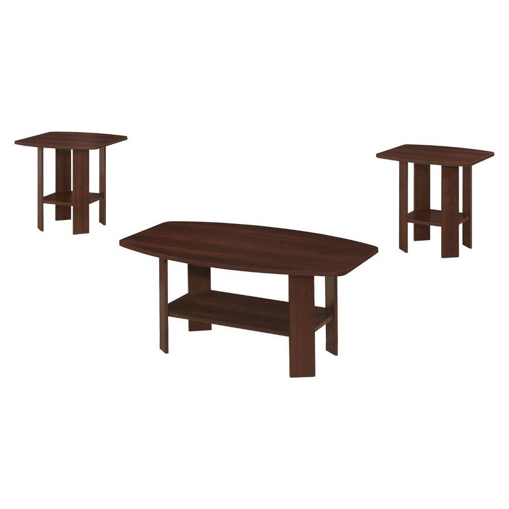 Jasmine 55.25 in. Cherry Table (Set of 3)