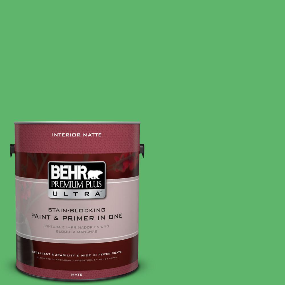 BEHR Premium Plus Ultra 1 gal. #P390-6 Lawn Party Matte Interior Paint