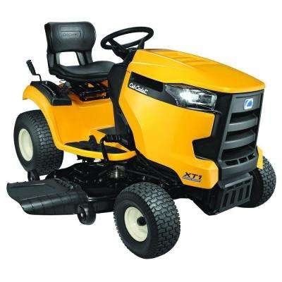cub cadet outdoor power equipment outdoors the home depot  xt1 enduro series lt 46 in 22 hp v twin kohler hydrostatic gas front
