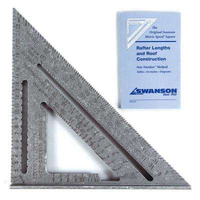 25 cm Metric Speed Square carded with English French and Spanish