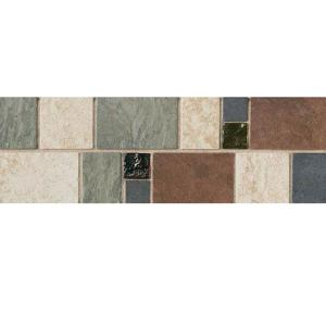 Daltile Continental Slate 4 inch x 12 inch x 6 mm Porcelain Decorative Accent Mosaic Floor... by Daltile