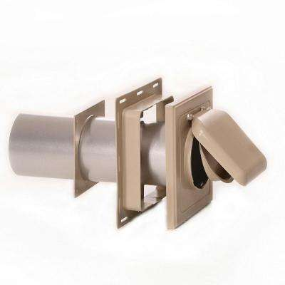 No Pest Vent 4 in. J Block or Wide-Mount Dual Door Wall Vent in Tan