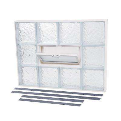 25.625 in. x 23.875 in. NailUp2 Vented Ice Pattern Glass Block Window