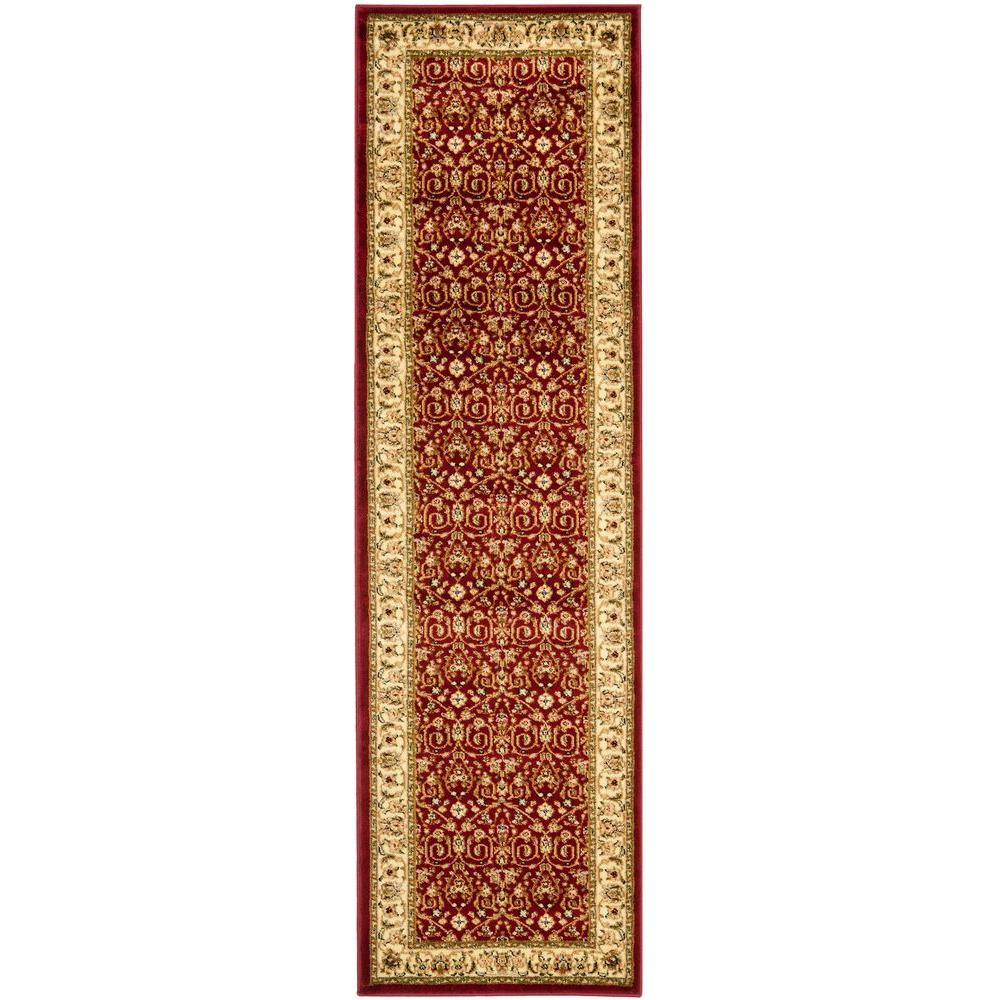 Safavieh Lyndhurst Red/Ivory 2 ft. 3 in. x 12 ft. Runner