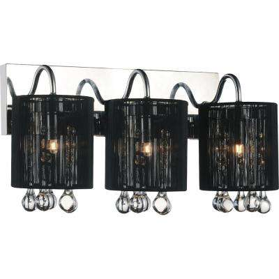 Water Drop 3-Light Chrome Sconce