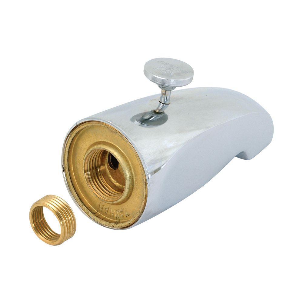 EZ-FLO Brass Diverter Spout with Face Bushing, Chrome