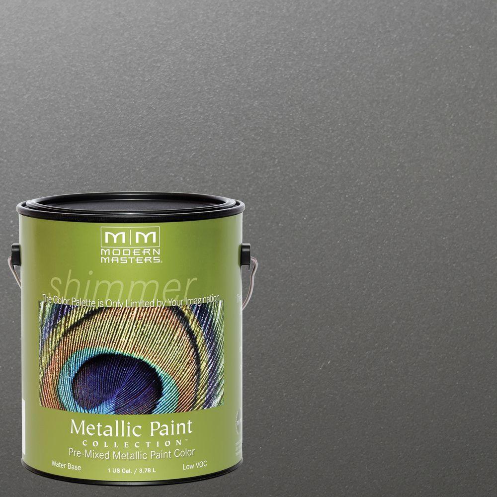 1 gal. Pewter Satin Metallic Interior/Exterior Paint