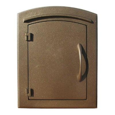 Manchester Bronze Wall-Mount Plain Door Mailbox