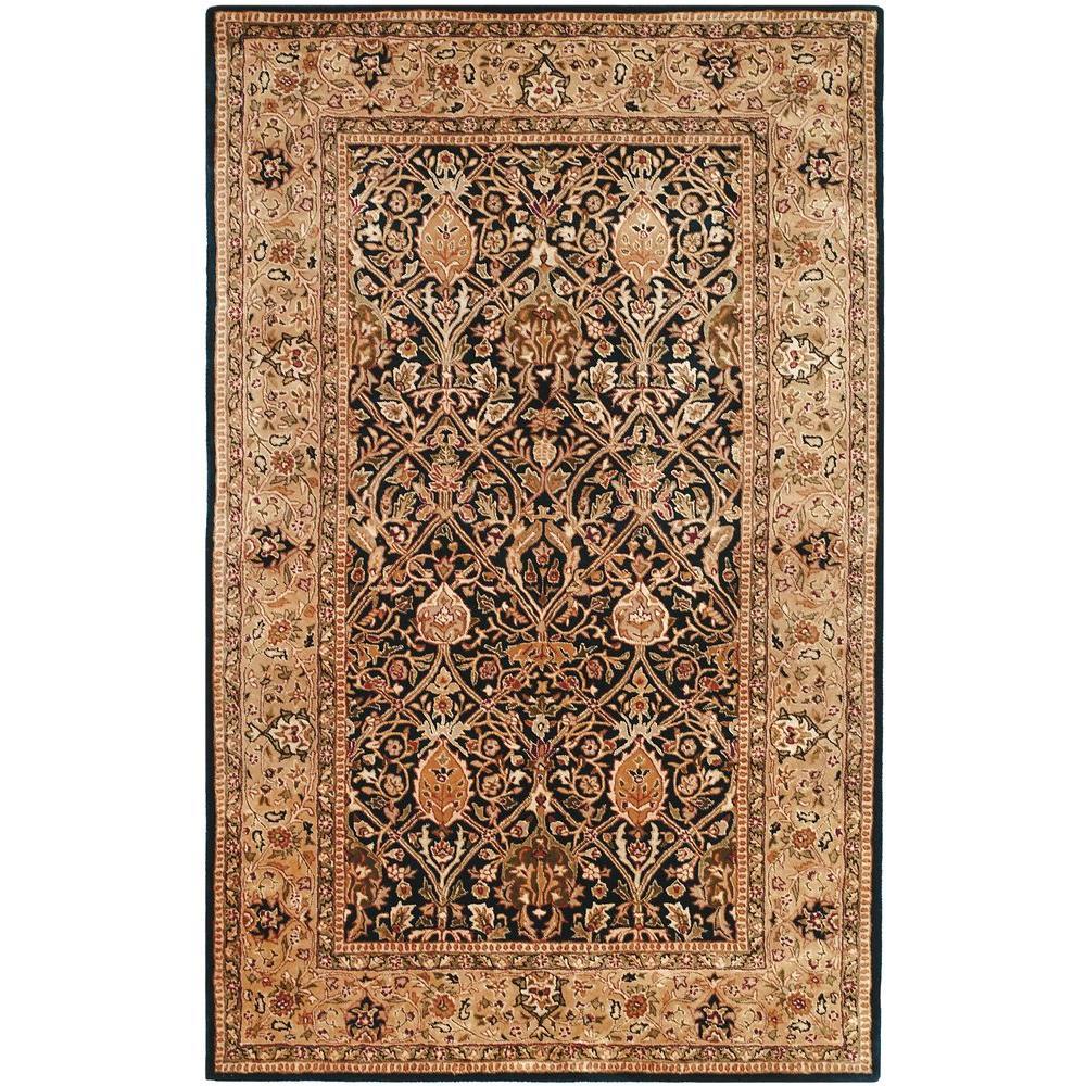 safavieh persian legend blue gold 5 ft x 8 ft area rug pl519c 5 the home depot. Black Bedroom Furniture Sets. Home Design Ideas