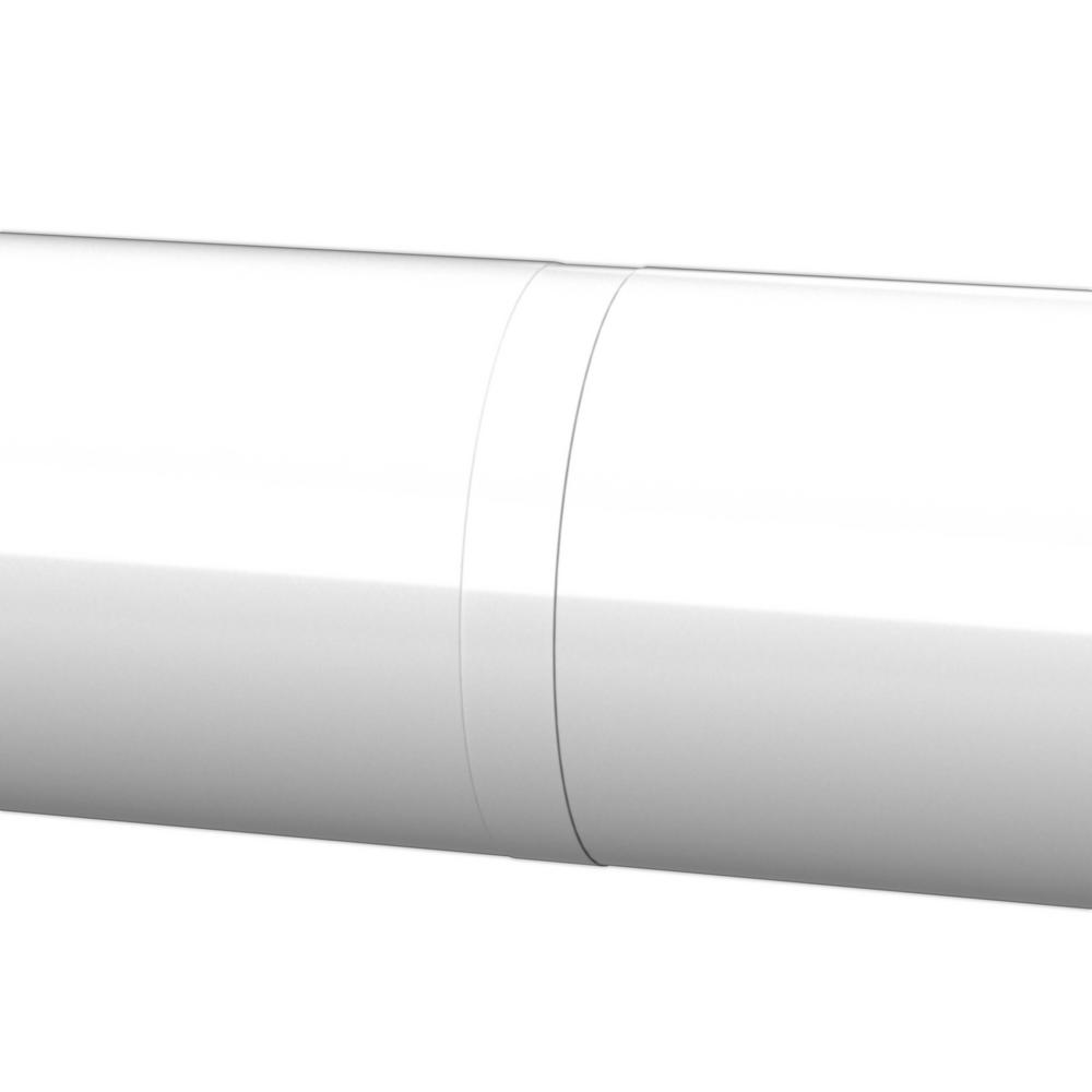 1.9 ID PVC FORMUFIT F112ECO-WH-10 1-1//2 Furniture Grade External Coupling in White Pack of 10