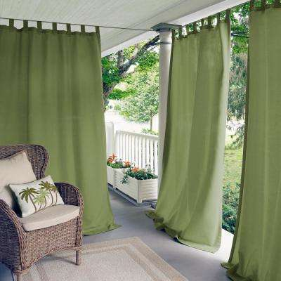 Matine Green Indoor/Outdoor Window Curtain Panel - 52 in. W x 95 in. L