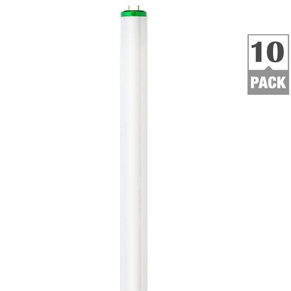 Philips 4 ft. T12 40-Watt Cool White Supreme Linear Fluorescent Light Bulb (10-Pack)