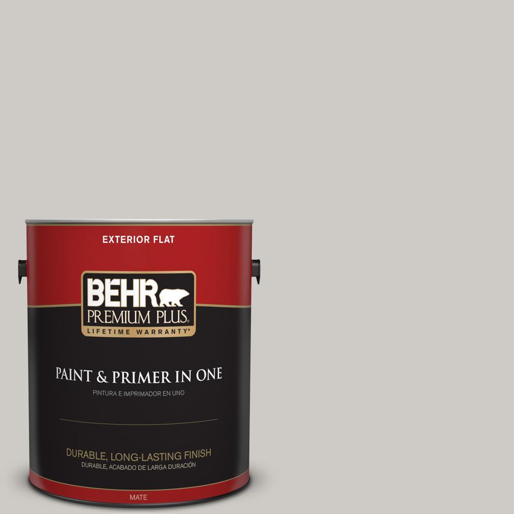 1 gal. #PPU26-10 Chic Gray Flat Exterior Paint
