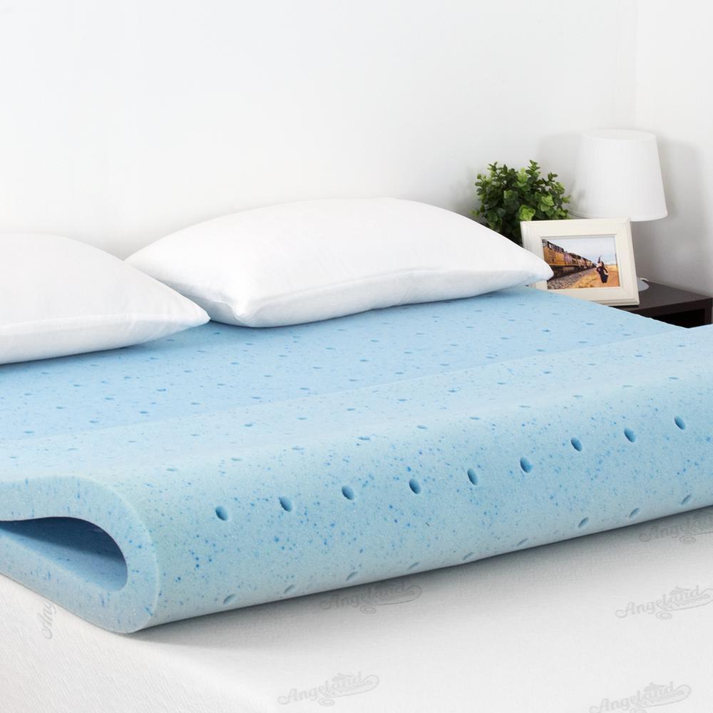 full size gel mattress topper Furinno Angeland 2 in. Full Size Firm Gel HD Foam Mattress Topper  full size gel mattress topper