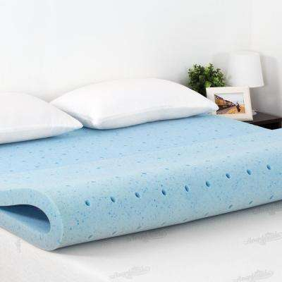 Angeland 2 in. Full Size Firm Gel HD Foam Mattress Topper