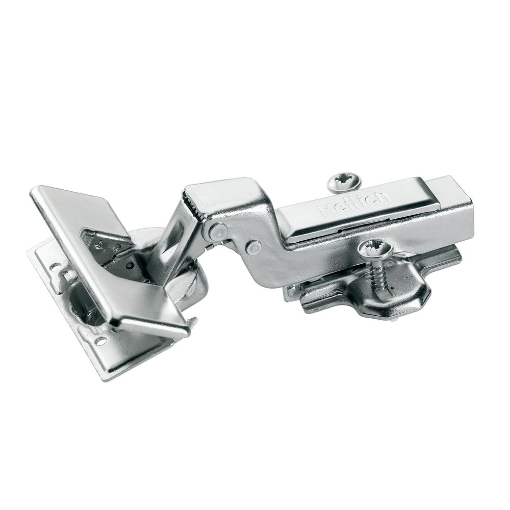 Concealed Inset 1-3/8 in. (35 mm) Frameless Hinge, Toolless Clip-On Cup