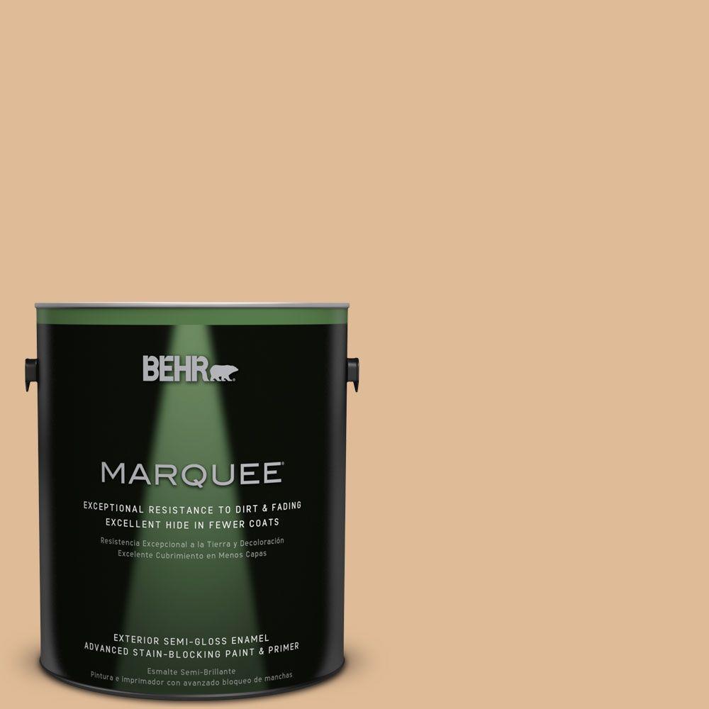 BEHR MARQUEE 1-gal. #S250-3 Honey Nougat Semi-Gloss Enamel Exterior Paint