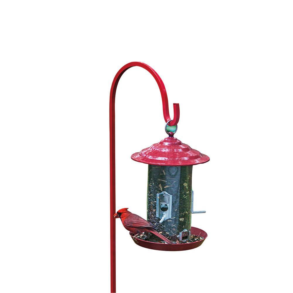 12 In. Tall Backyard Raspberry Red Bird Feeder