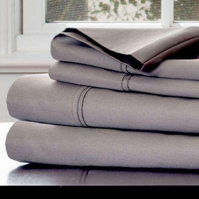 4-Piece Platinum 1000 Count Cotton Sateen Queen Sheet Set