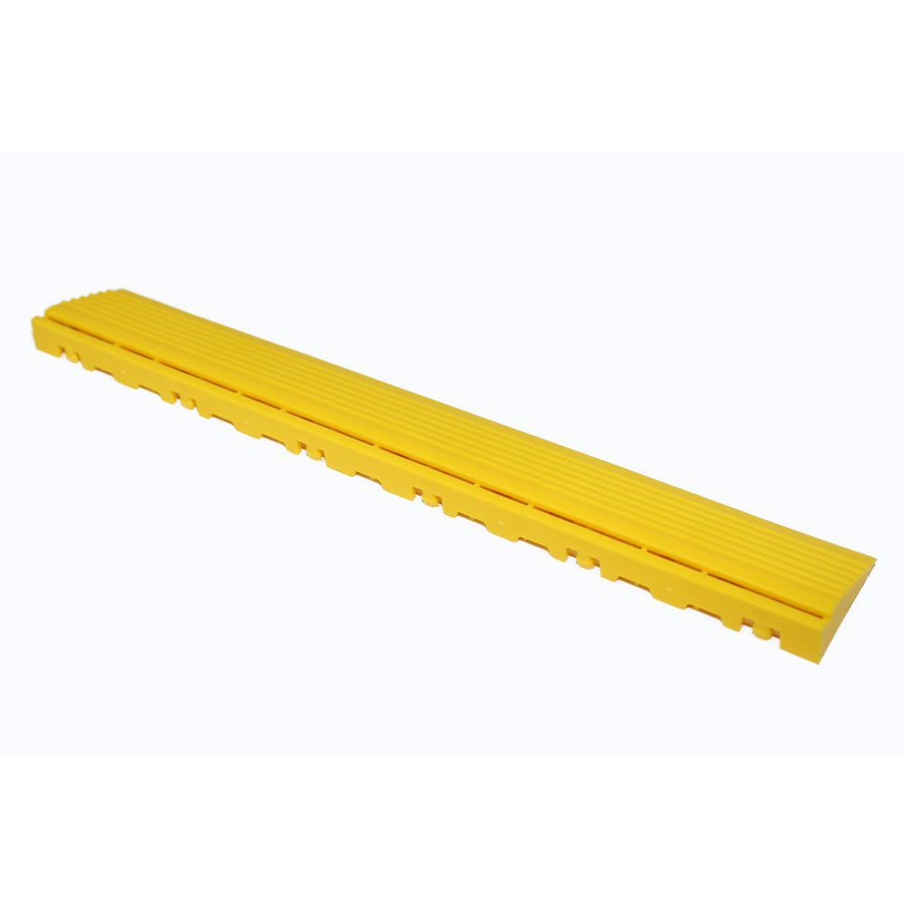 15.75 in. Citrus Yellow Pegged Edging for 15.75 in. Swisstrax Modular Tile Flooring (2-Pack)