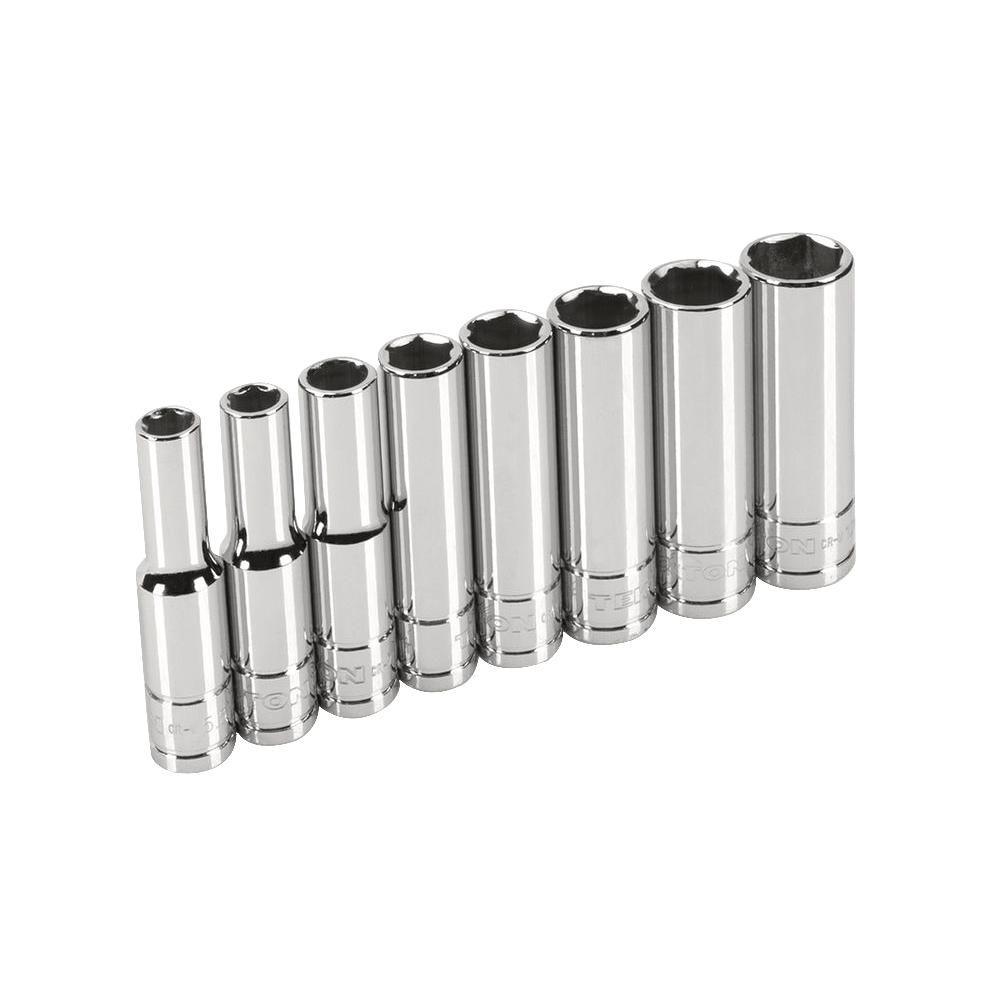 1/4 in. Drive 5.5-12 mm 6-Point Deep Socket Set