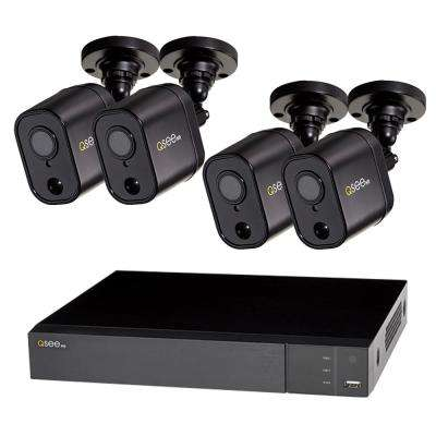 4-Channel 1080p 1TB Video Surveillance DVR System with 4 PIR Bullet Cameras