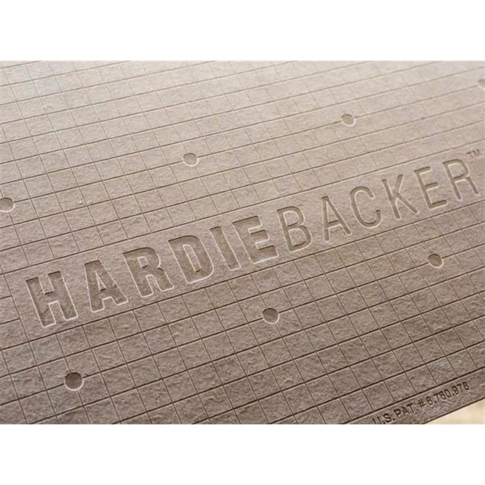 James Hardie HardieBacker 3 ft. x 5 ft. x 1/4 in. Cement ...