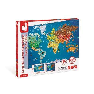 Magnetic Animal World Map