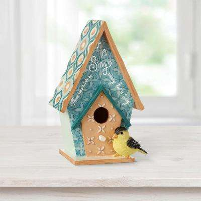 Indoor Birdhouse MDF/Resin Decorative Wall-Mounted Home Decor Figurine