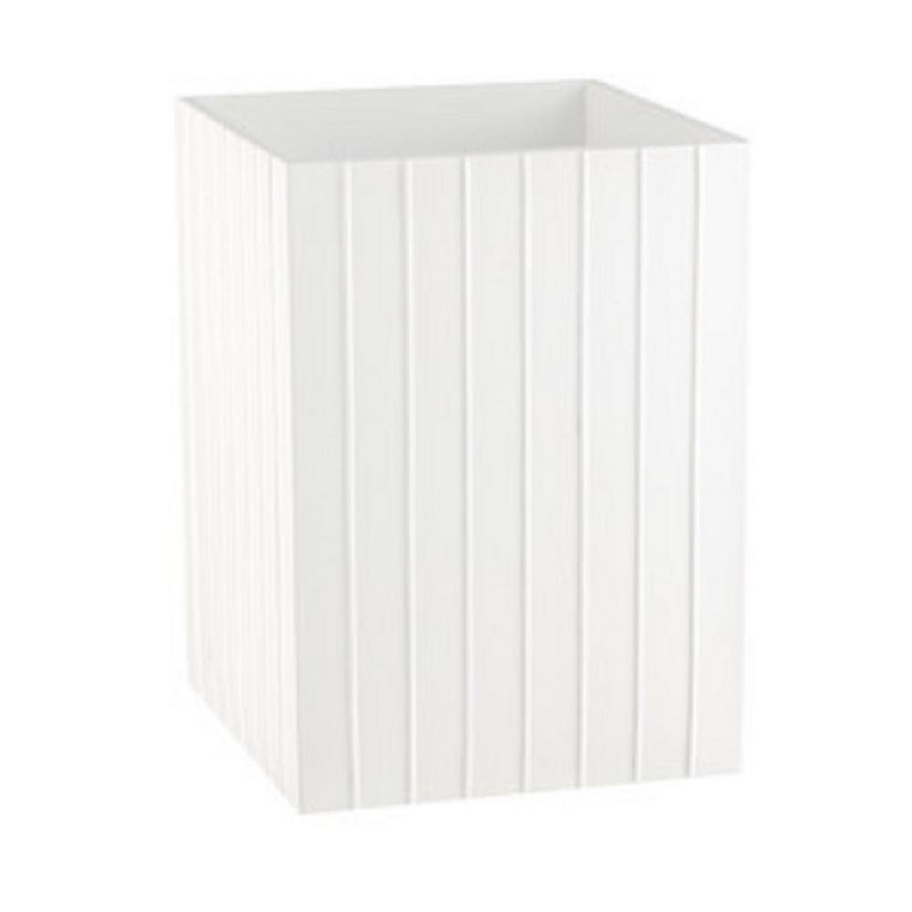 Kraftware Platform Wastebasket in White