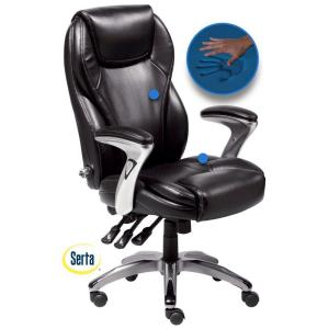 Bon +3. Serta Black Bonded Leather Executive Office Chair