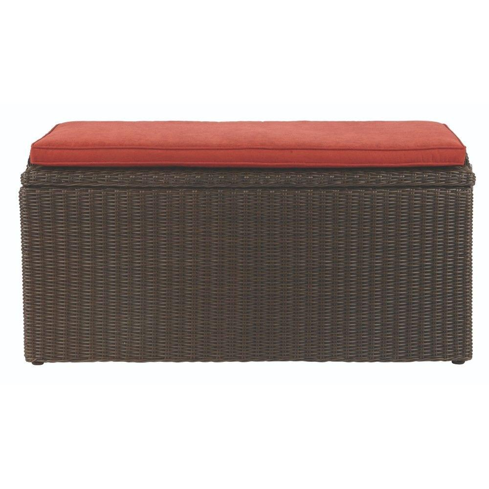 Naples 93.78 Gal. All-Weather Wicker Deck Box