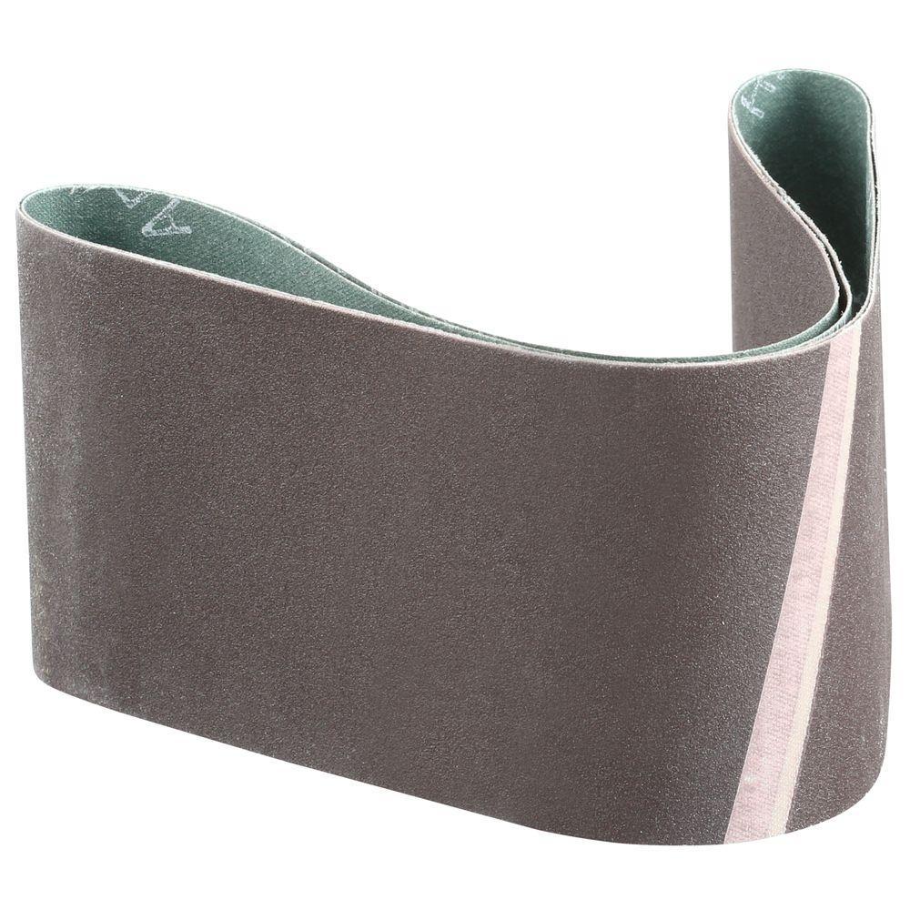 3 in. x 24 in. 150-Grit Abrasive Belt (2-Pack)