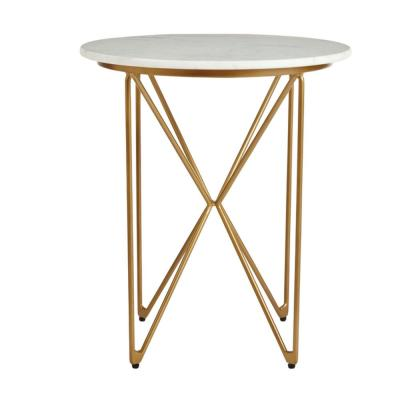 Home Decorators Collection Round Gold Metal Coffee Table with Storage and Hammered Finish (30 in. W x 15.75 in. H)