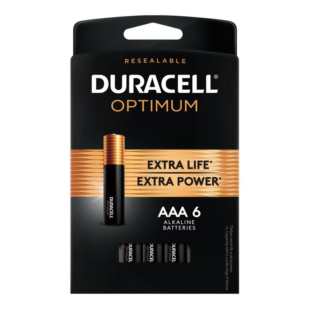 Duracell Optimum AAA Alkaline Battery (6-Pack)