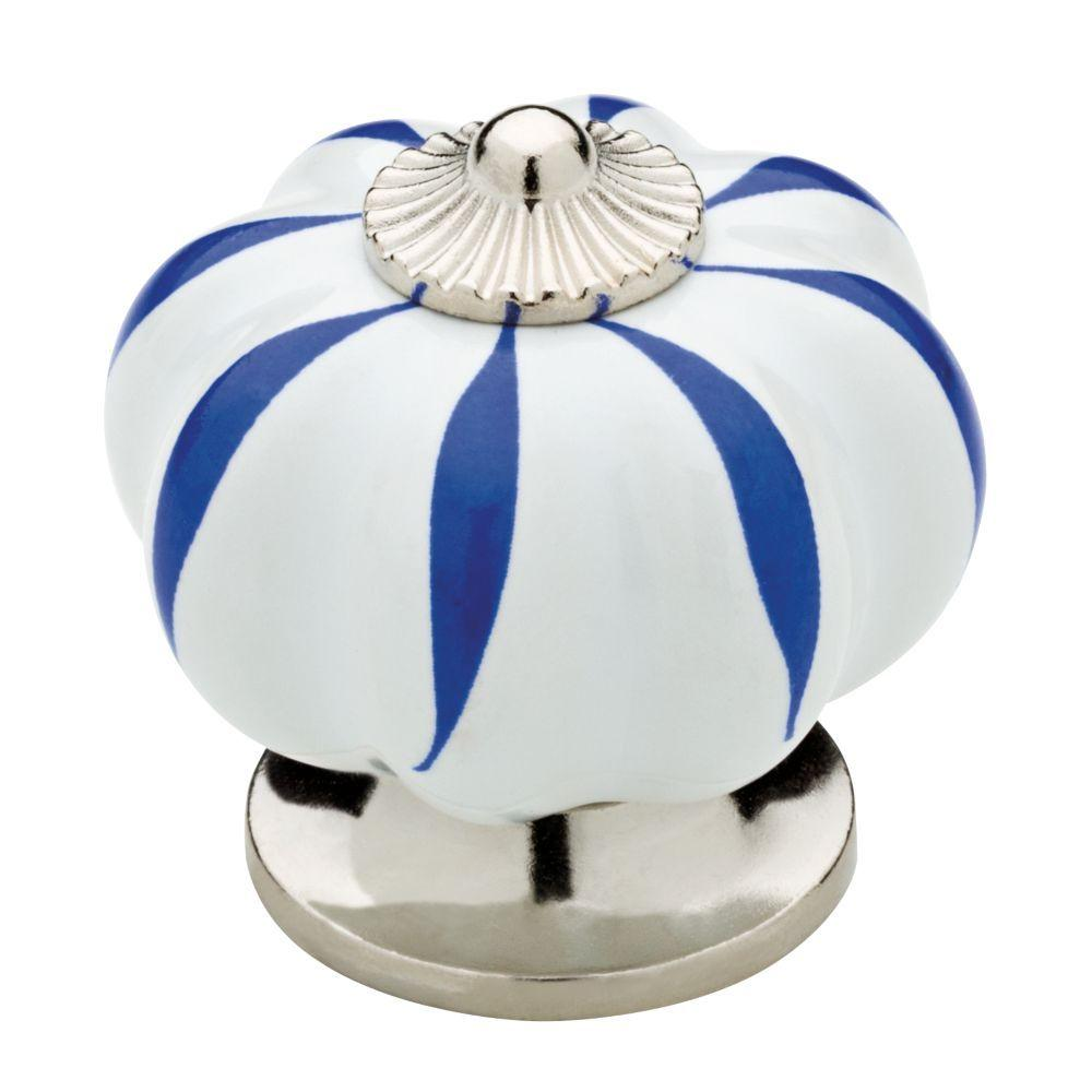 Liberty Ceramic Melon 1 1 2 In 38mm White With Blue