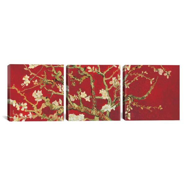 iCanvas ''Almond Blossom On Red'' by Vincent van Gogh Canvas Wall