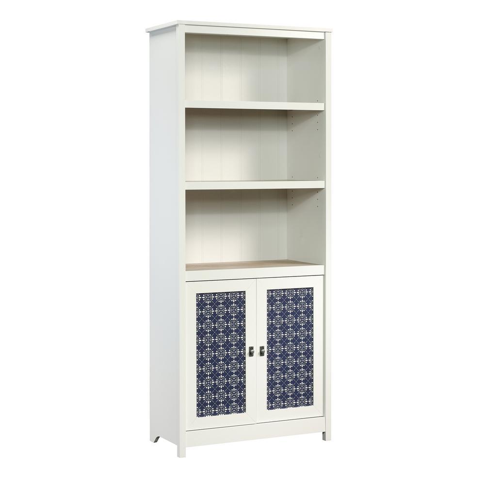 Cottage Road Soft White 2-Door Bookcase