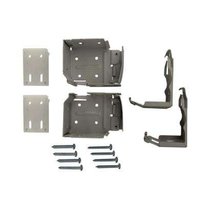 2-1/2 in. Cordless Faux Wood Side Mounting Brackets Set in Gray