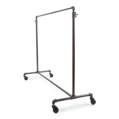 Pipeline Gray Steel Adjustable Clothes Rack (43 in. W x 72 in. H)