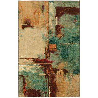 Select Strata Aqua Fusion 5 ft. x 8 ft. Area Rug