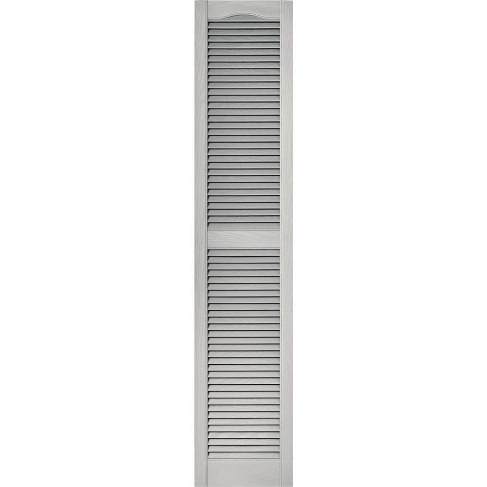 Builders edge 15 in x 72 in louvered vinyl exterior - Paintable louvered vinyl exterior shutters ...